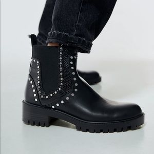 Zara studded ankle boot